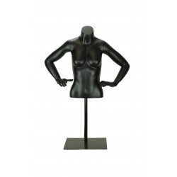 BUSTO DE MUJER REGULABLE COLOR NEGRO MATE