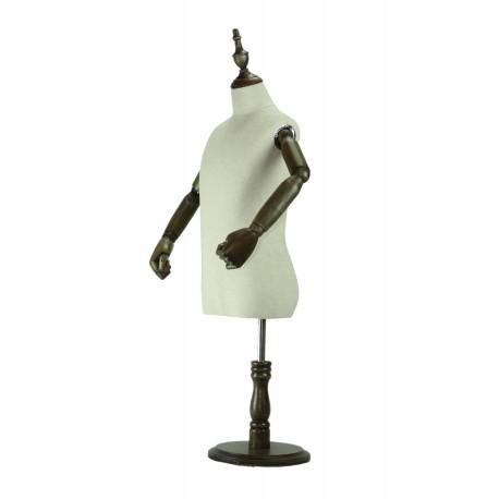 Busto de niño tela regulable brazos articulados