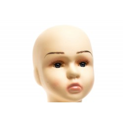 Cabeza infantil realista en plástico color carne