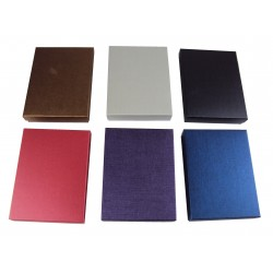 Cajas para joyas cartón negro 16.5x12.5x3cm