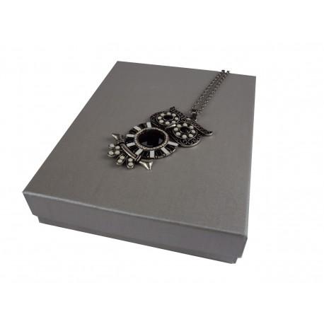 Cajita para joyería color plata 16.5x12.5x3cm 12 und