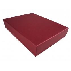 Cajita para joyeria color rojo 16.5x12.5x3cm 12 und