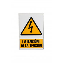 CARTEL DE ALTA TENSION 21X30 CM