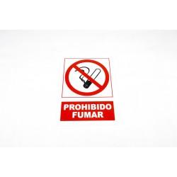 Cartel prohibido fumar 21x30cm