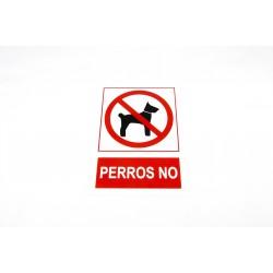 CARTEL PROHIBIDO PERROS 21X30 CM