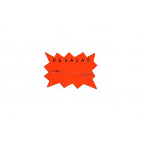 Cartel rebajas naranja