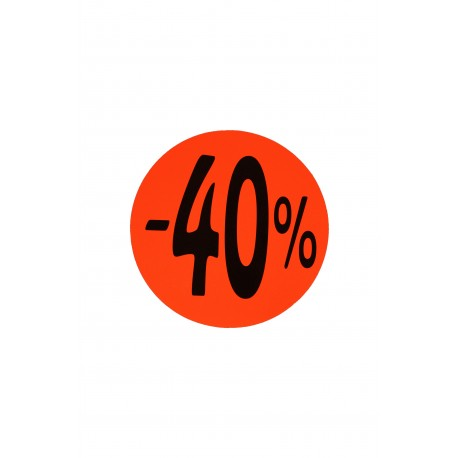 Cartel de rebajas 70% 50% 40% 20% 10% redondo