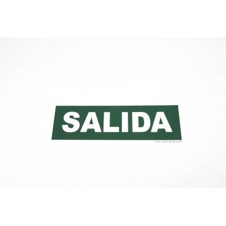 Cartel salida verde 30x10.5cm