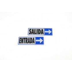 CARTEL SALIDA A LA DERECHA 17.5X6 CM