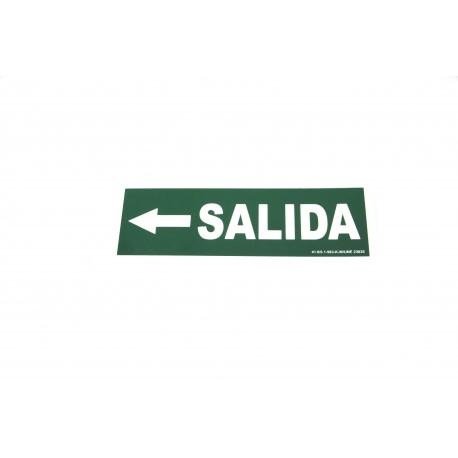 Cartel salida a la izquierda verde