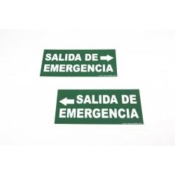 Cartel salida de emergencia a la izquierda 30x15cm