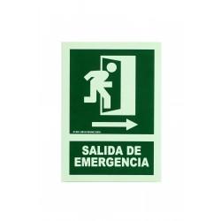 Cartel salida de emergencia 21x30cm