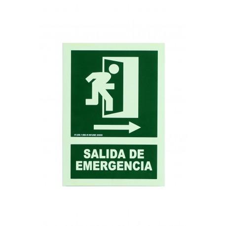 CARTEL SALIDA EMERGENCIA 21X30 CM
