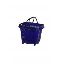 Cesta de compra para supermercado azul