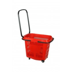 Cesta de compra para supermercado roja