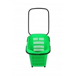 Cesta de compra para supermercado verde 50 l