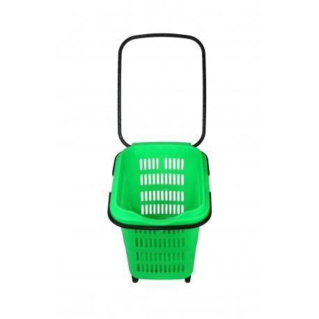 Cesta de compra para supermercado verde