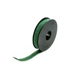 Cinta de lino para regalos verde oscuro 20 metros