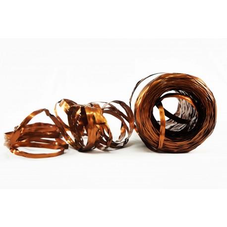 Cintas de rafia para regalos sintética cobre metalizado 200 metros