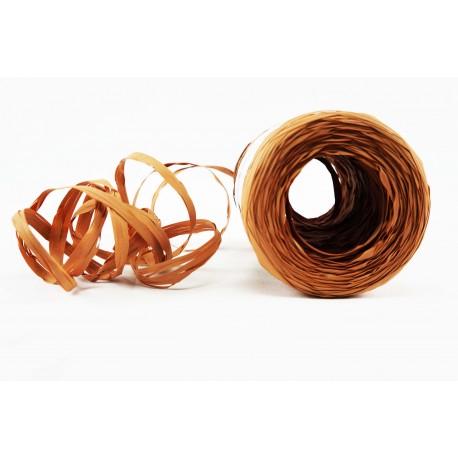 Cintas de rafia para regalos sintética marrón claro 200 metros