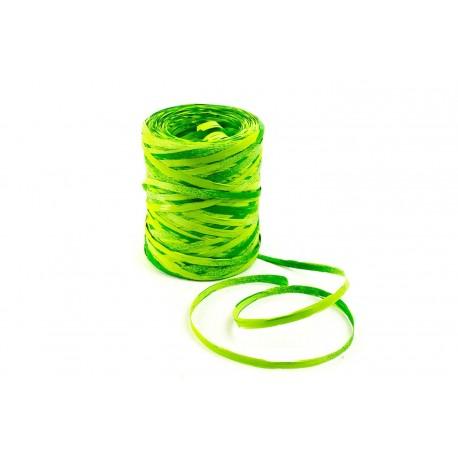 Cintas de rafia para regalos sintética verde fosforito 200 metros
