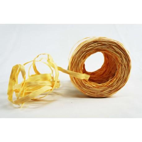 Cintas de rafia para regalos sintética vainilla 200 metros