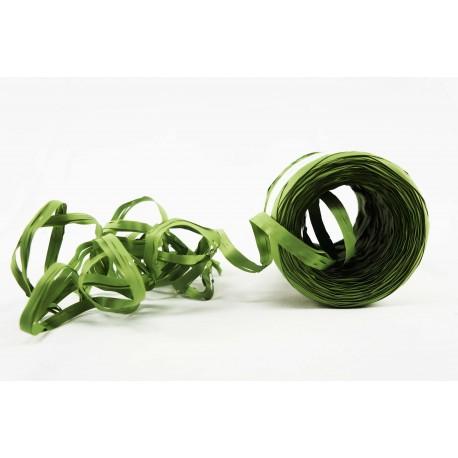 Cintas de rafia para regalos sintética verde oliva 200 metros