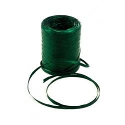 Cinta de rafia para regalos verde metalizado 200 metros