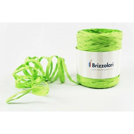 Cinta de rafia para regalos sintética verde pistacho 200 metros