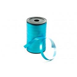 Cinta de plástico para regalos azul metalizado 100 metros