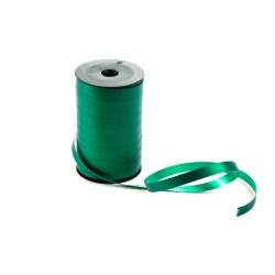Cinta de plástico para regalos verde metalizado 100 metros