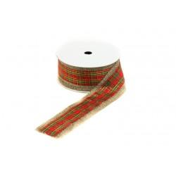 Cintas de tela saco para regalos escocesa 9 metros