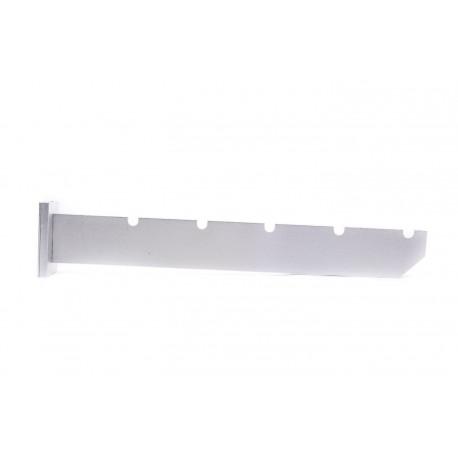 Colgador para pared gris 5 ranuras 30cm