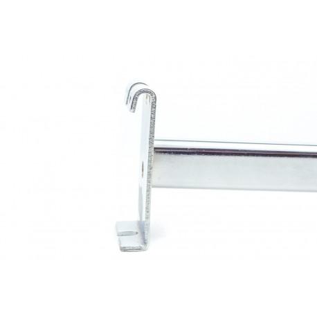 Colgador metálico para sistema de malla con un clavo 40cm