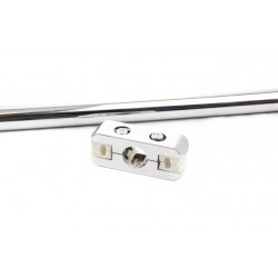 Conector de metal para mallas a tubo de 25mm