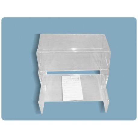 Conjunto expositor de mesas acrilico 3 alturas transparente