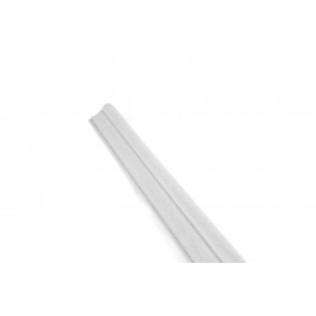 Cornisa para paneles de lamas de MDF de color plata 240cm