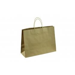 Bolsa de papel kraft con asa cordon color havana 45x33x15cm