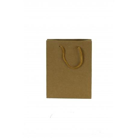 Bolsas de papel kraft con asa cordón tostado 35x13x31cm