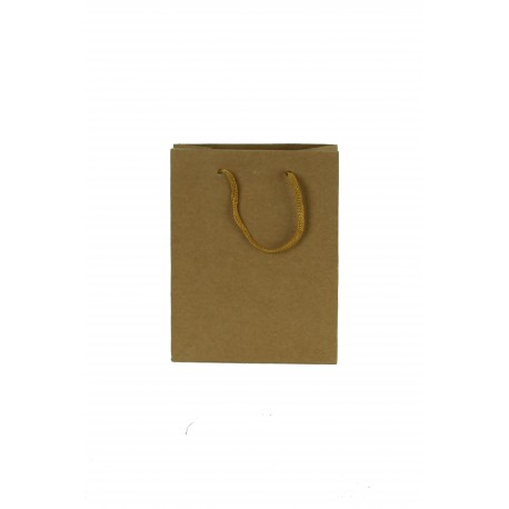 Bolsas de papel kraft asa cordón tostado 35x13x31cm
