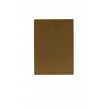 Bolsas de papel kraft asa cordón tostado 35x25x9cm