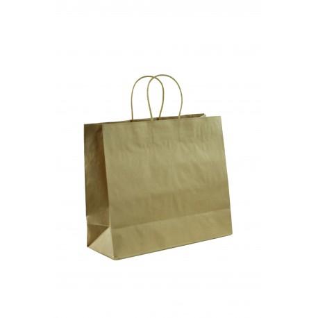 Bolsas de papel con asa cordón color havana 35x13x30cm