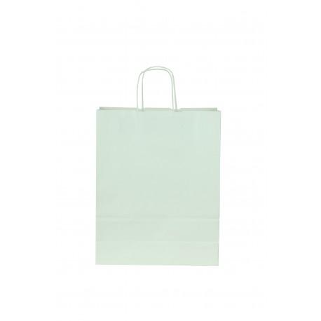 Bolsa de papel celulosa asa rizada blanco 45x15x49cm