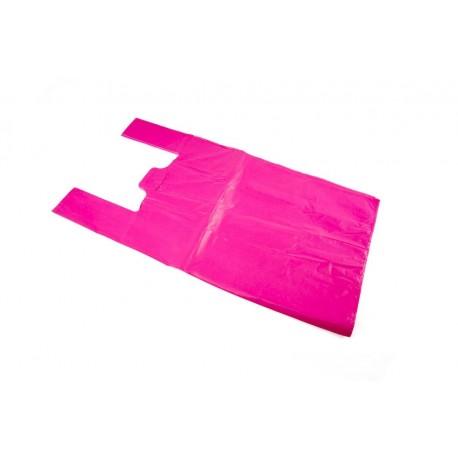 Bolsas de plástico camiseta rosa 40x50cm