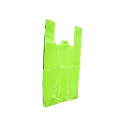 Bolsas de plástico camiseta verde 40x50cm