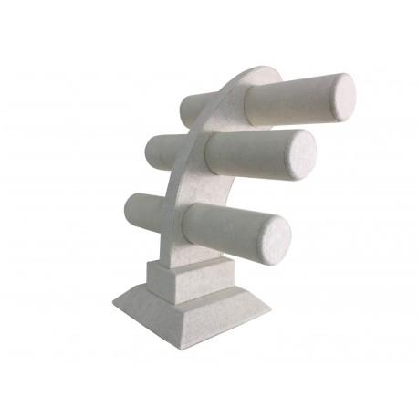 Expositor de pulseras triple lino beige 32x26x23cm