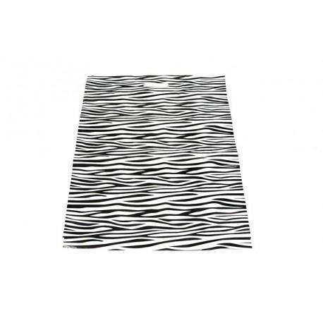 Bolsas de plástico asa troquelada estampado cebra 50x60cm