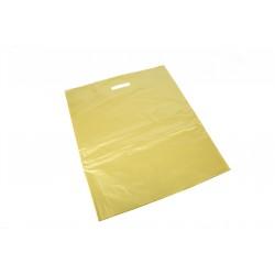 Bolsas de plástico asa troquelada dorada 25x35cm