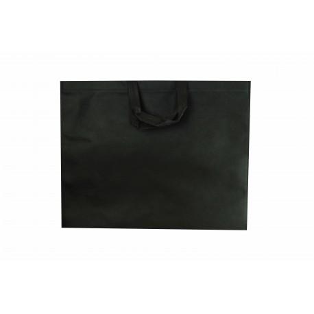 Bolsa de tela asa plana negro 49x40 cm