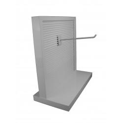 Góndola expositora con sobre mesa 51.5x50x25cm color blanco brillo